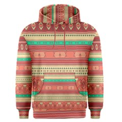 Hand Drawn Ethnic Shapes Pattern Men s Pullover Hoodie