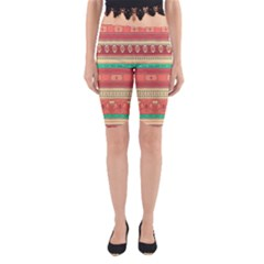 Hand Drawn Ethnic Shapes Pattern Yoga Cropped Leggings