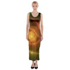 Orange Rose Fitted Maxi Dress