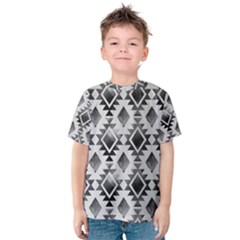 Hand Painted Black Ethnic Pattern Kid s Cotton Tee