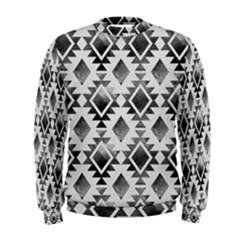 Hand Painted Black Ethnic Pattern Men s Sweatshirt