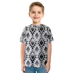 Hand Painted Black Ethnic Pattern Kid s Sport Mesh Tee