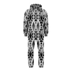 Hand Painted Black Ethnic Pattern Hooded Jumpsuit (Kids)