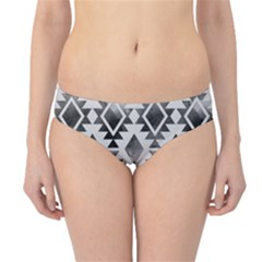 Hand Painted Black Ethnic Pattern Hipster Bikini Bottoms
