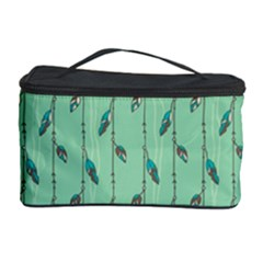 Seamless Lines And Feathers Pattern Cosmetic Storage Cases