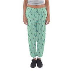 Seamless Lines And Feathers Pattern Women s Jogger Sweatpants