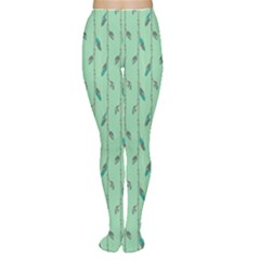 Seamless Lines And Feathers Pattern Women s Tights