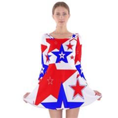 The Patriot 2 Long Sleeve Velvet Skater Dress