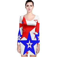The Patriot 2 Long Sleeve Velvet Bodycon Dress