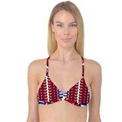 The Patriotic Flag Reversible Tri Bikini Top