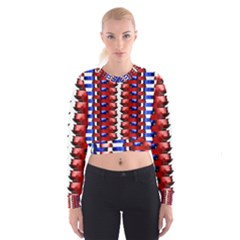 The Patriotic Flag Women s Cropped Sweatshirt