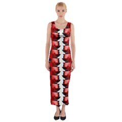 The Patriotic Flag Fitted Maxi Dress