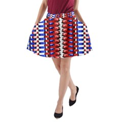 The Patriotic Flag A-Line Pocket Skirt