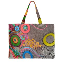 Rainbow Passion Zipper Large Tote Bag