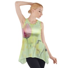 Softness Of Spring Side Drop Tank Tunic
