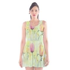 Softness Of Spring Scoop Neck Skater Dress