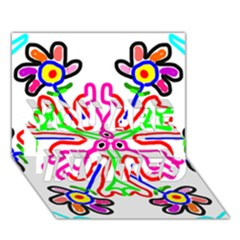 The Flower Pods You Are Invited 3d Greeting Card (7x5)