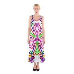 The Flower Pods Full Print Maxi Dress