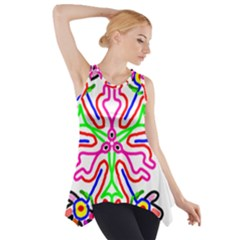 The Flower Pods Side Drop Tank Tunic