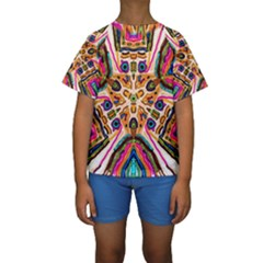 Ethnic You Collecition Kid s Short Sleeve Swimwear