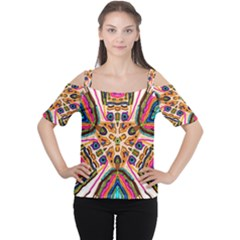 Ethnic You Collecition Women s Cutout Shoulder Tee