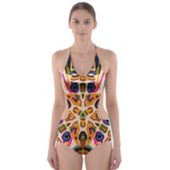 Ethnic You Collecition Cut-Out One Piece Swimsuit