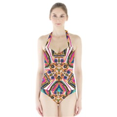 Ethnic You Collecition Women s Halter One Piece Swimsuit