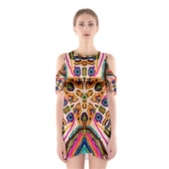 Ethnic You Collecition Cutout Shoulder Dress