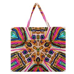 Ethnic You Collecition Zipper Large Tote Bag