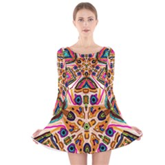 Ethnic You Collecition Long Sleeve Velvet Skater Dress