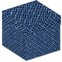 Woven2 Black Marble & Blue Marble (r) Storage Stool 12