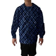 Woven2 Black Marble & Blue Marble Hooded Wind Breaker (kids)