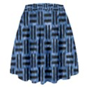 WOVEN1 BLACK MARBLE & BLUE MARBLE (R) High Waist Skirt View2