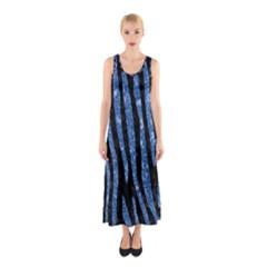 SKN4 BK-BL MARBLE (R) Full Print Maxi Dress