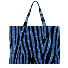 SKN4 BK-BL MARBLE (R) Large Tote Bag