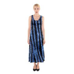 SKN4 BK-BL MARBLE Full Print Maxi Dress