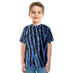 SKN4 BK-BL MARBLE Kid s Sport Mesh Tee