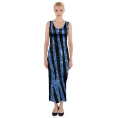 SKN4 BK-BL MARBLE Fitted Maxi Dress