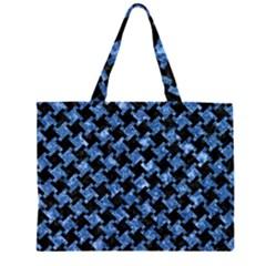 HTH2 BK-BL MARBLE Large Tote Bag