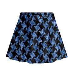 HTH2 BK-BL MARBLE Mini Flare Skirt