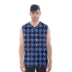 Houndstooth1 Black Marble & Blue Marble Men s Basketball Tank Top
