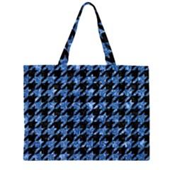 HTH1 BK-BL MARBLE Large Tote Bag