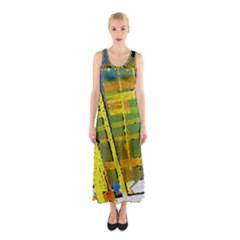 Pretty in Yellow Full Print Maxi Dress
