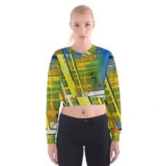 Pretty In Yelllow Women s Cropped Sweatshirt