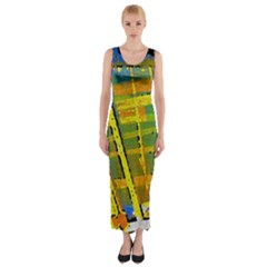 Pretty in Yelllow Fitted Maxi Dress