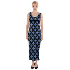 CIR3 BK-BL MARBLE (R) Fitted Maxi Dress