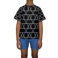 Star Of David   Kid s Short Sleeve Swimwear
