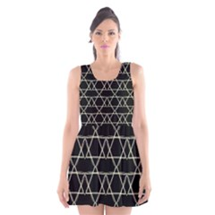 Star Of David   Scoop Neck Skater Dress