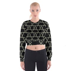 Star Of David   Women s Cropped Sweatshirt