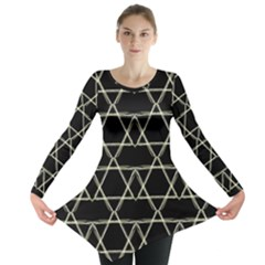 Star Of David   Long Sleeve Tunic